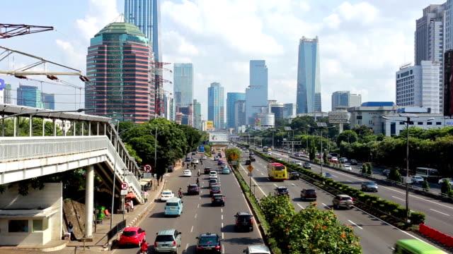 Traffic in Jakarta, Indonesia capital city