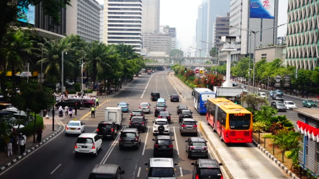traffic  in jakarta, indonesia - indonesia stock videos & royalty-free footage