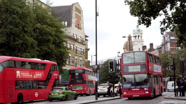 traffic in london islington angel area - islington stock videos & royalty-free footage
