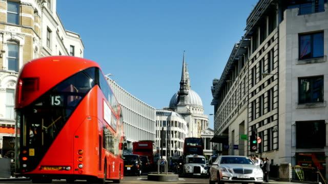 T/L Traffic In London Ludgate Hill