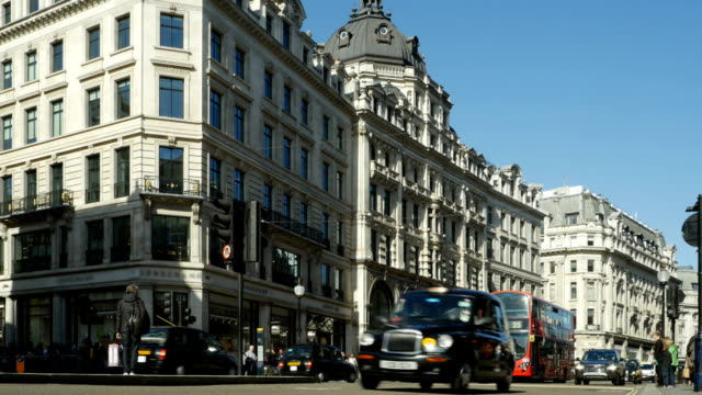t/l traffic in london regent street north end - west end london stock videos and b-roll footage