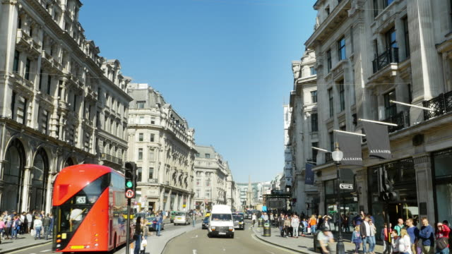 traffic in london regent street (uhd) - west end london stock videos and b-roll footage