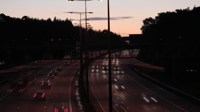 traffic in london uk on monday december 23 2019 - traffic time lapse stock videos & royalty-free footage