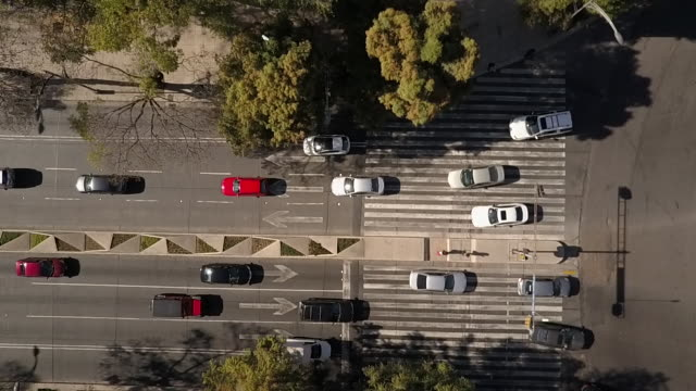 traffic in mexico city, overhead aerial - car on road stock videos & royalty-free footage