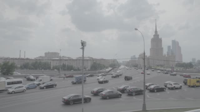 traffic in moscow - moscow russia stock videos & royalty-free footage