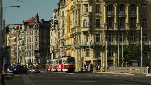 WS Traffic in old town / Prague, Czech Republic