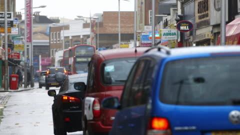 ws traffic in peckham / london, england, united kingdom - peckham stock videos & royalty-free footage