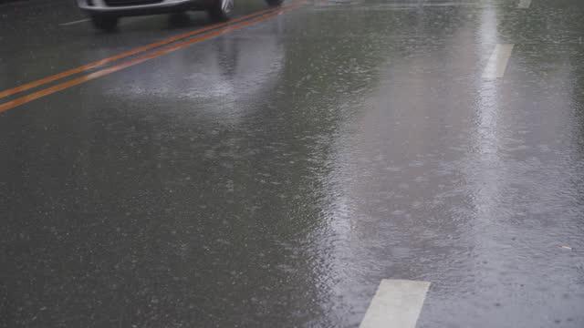 traffic in rain - hitting stock videos & royalty-free footage