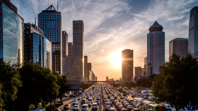 traffic in rush hour - beijing municipality stock videos and b-roll footage