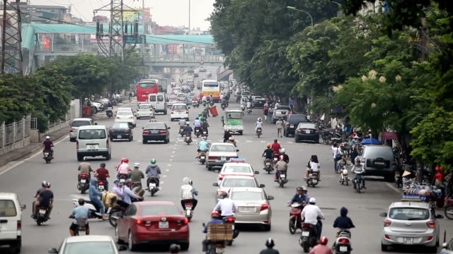 traffic in saigon streets - air pollution stock videos & royalty-free footage
