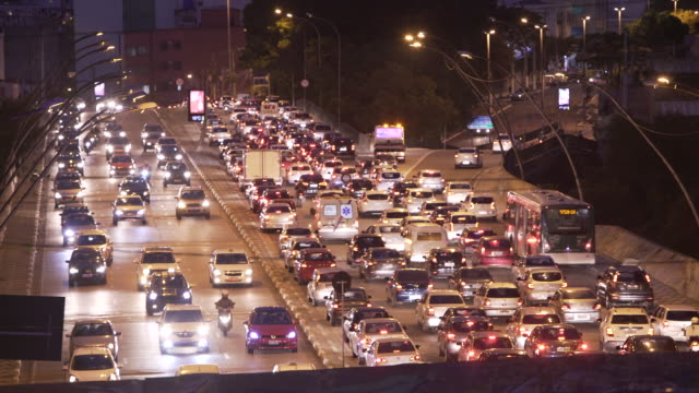 traffic in sao paulo - traffic jam stock videos and b-roll footage
