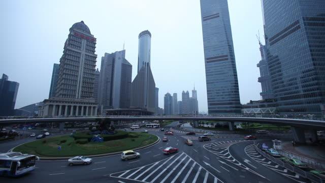 WS T/L Traffic in Shanghai city / Shanghai, South Korea