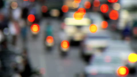 traffic in slow motion, blurred/defocussed, progressive hd - soft focus stock videos & royalty-free footage