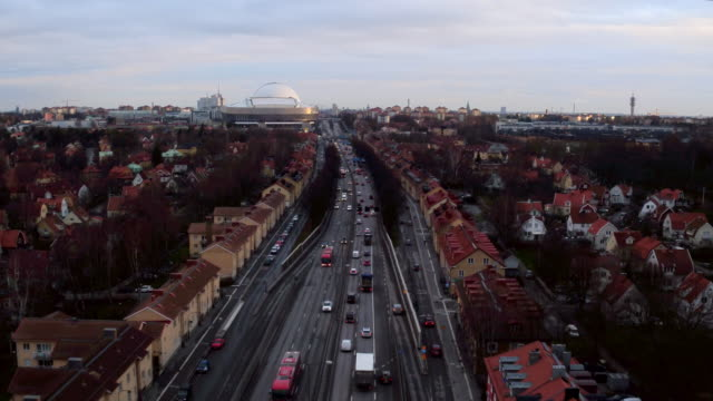 aerial: traffic in stockholm - resa stock videos & royalty-free footage