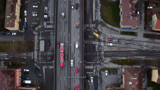 AERIAL: Traffic in Stockholm