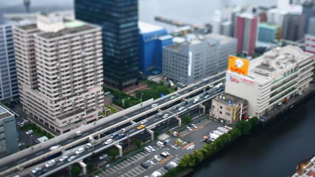 T/L WS HA SELECTIVE FOCUS Traffic in Tamachi area, Tokyo, Japan