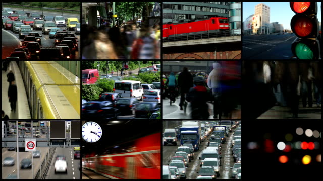 traffic in the city -montage - film montage stock videos & royalty-free footage