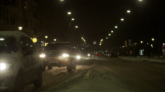 Traffic in the evening, Sweden.