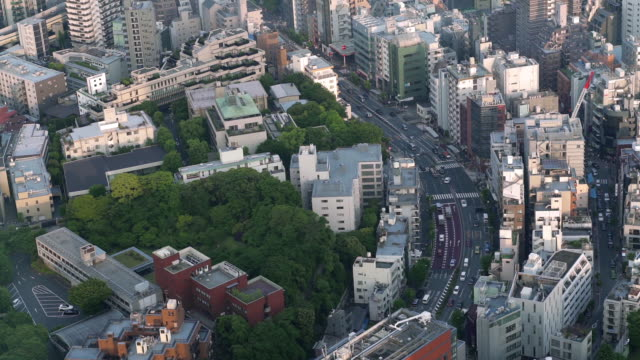 slo mo traffic in tokyo taken from roppongi hills mori tower - roppongi hills stock videos and b-roll footage
