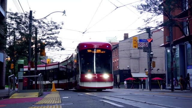 traffic in toronto downtown - transportation stock videos & royalty-free footage