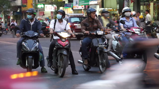 traffic in vietnam - moped stock videos and b-roll footage