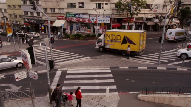traffic intersection in akko, israel, middle east - akko stock videos and b-roll footage