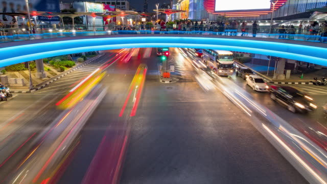 traffic intersection in rush hour - traffic stock videos & royalty-free footage