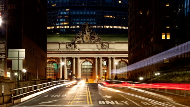 Traffic Intersection Time Lapse at Grand Central NYC