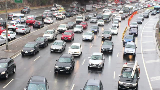 traffic jam and merging traffic - pollution stock videos & royalty-free footage