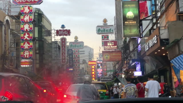 traffic jam at Chinatown in Bangkok Thailand