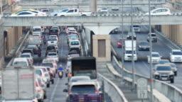 Traffic jam in Bangkok , Thailand