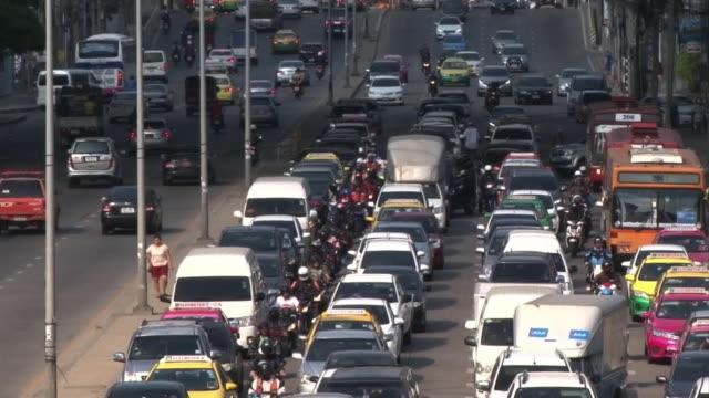 Traffic Jam In Bangkok, Thailand