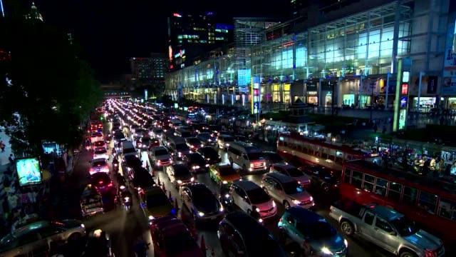 traffic jam in bangkok - traffic jam stock videos & royalty-free footage