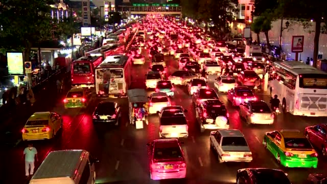 traffic jam in bangkok - queuing stock videos & royalty-free footage