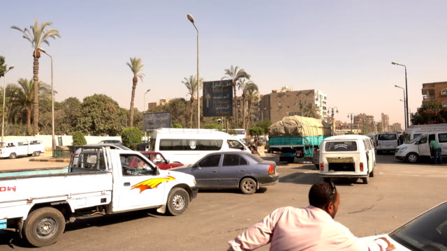 traffic jam in downtown cairo, egypt - middle eastern ethnicity stock videos and b-roll footage