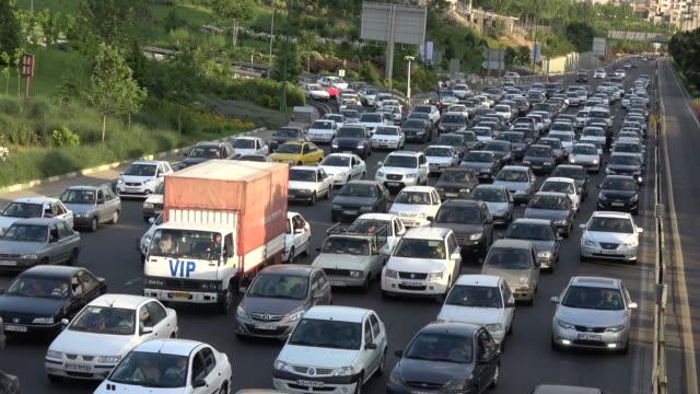 Traffic jam in Tehran