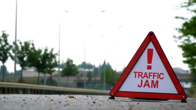 traffic jam! - traffic sign - punctuation mark stock videos & royalty-free footage