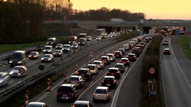 t/l traffic jam - north rhine westphalia stock videos & royalty-free footage