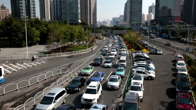 traffic jam - shanghai stock videos & royalty-free footage
