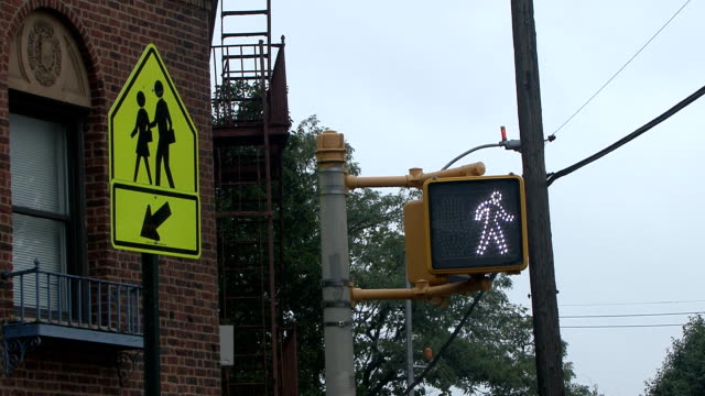 traffic light and sign - walk don't walk signal stock videos and b-roll footage