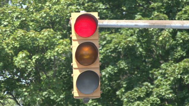 traffic light changing from red to green, from stop to go