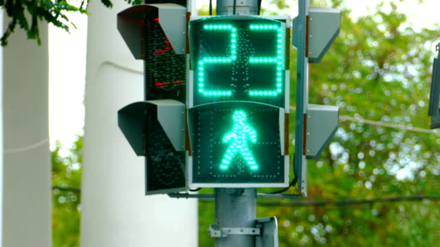 traffic light pedestrian crossing - pedestrian crossing stock videos & royalty-free footage