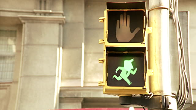 traffic light running man - male likeness stock videos & royalty-free footage