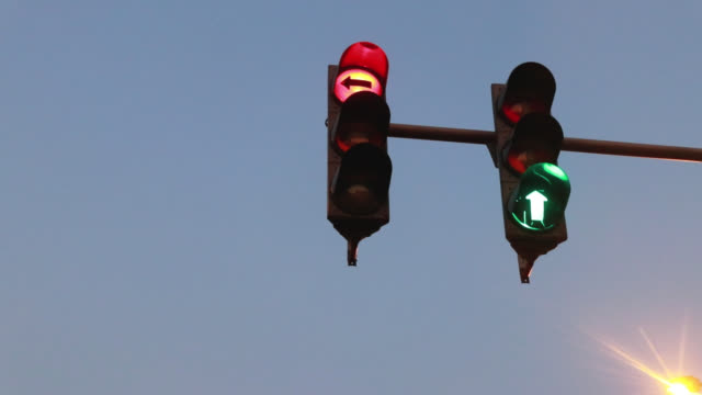 traffic light signalization - road sign stock videos & royalty-free footage