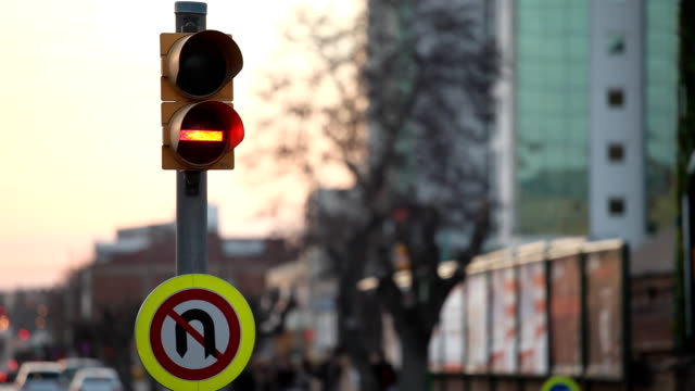 traffic light stop to top - level crossing stock videos & royalty-free footage