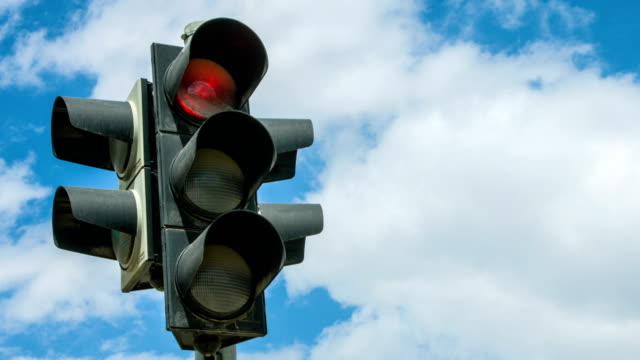 traffic light time lapse - transportation stock videos & royalty-free footage