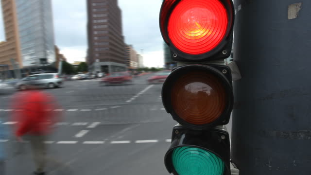 traffic light - time lapse - green light stoplight stock videos and b-roll footage