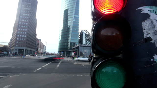 traffic light - time lapse - traffic light stock videos & royalty-free footage