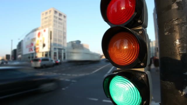 traffic light - road signal stock videos & royalty-free footage