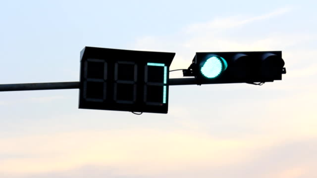 traffic light - amber stock videos & royalty-free footage